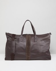 Paul Costelloe Leather Holdall In Brown Brown