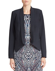 Dex Open Front Blazer Deep Blue