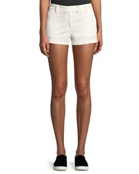 Theory Bennie Garment Dyed Twill Shorts White