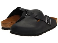 Birkenstock Boston Oiled Leather Unisex Black Oiled Leather Clog Shoes