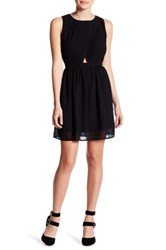 Romeo And Juliet Couture Open Back Mini Dress Black