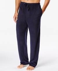 Perry Ellis Solid Fleece Pajama Pants Navy