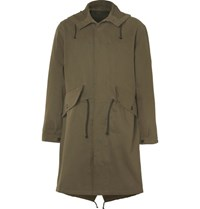 Margaret Howell Mhl Cotton Drill Parka Green
