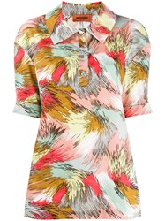 Missoni Abstract Print Polo Shirt Neutrals