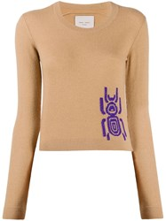 Frankie Morello Contrast Insect Knit Jumper 60