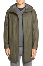 Vince Leather Parka Brushwood Green