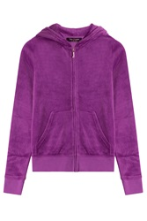 Juicy Couture Embellished Velour Hoodie Purple