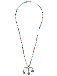 Valentino Garavani Beaded Multi Charm Necklace Multicolour
