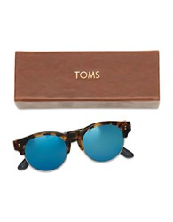 Toms 52Mm Charlie Mirrored Polarized Sunglasses Tortoise Brown
