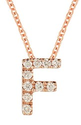 Bony Levy Women's Pave Diamond Initial Pendant Necklace Nordstrom Exclusive Rose Gold F