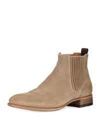John Varvatos Eldridge Suede Chelsea Boot Brown