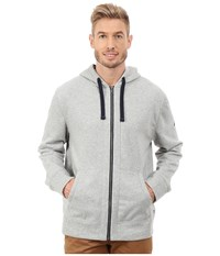 Nautica Cvc Full Zip Hoodie Grey Heather Men's Sweatshirt Gray