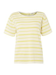 Dickins And Jones Bailey Button Back Tee Yellow