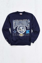 Mitchell And Ness Dallas Cowboys Crew Sweatshirt Navy