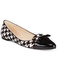 Nine West Saxiphone Smoking Flats Women's Shoes Houndstooth