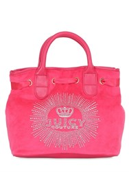 Juicy Couture Crown Jewel Surf Rider Velour Bag