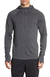 Ibex Men's 'Indie' Merino Wool Quarter Zip Hoodie Pewter Heather