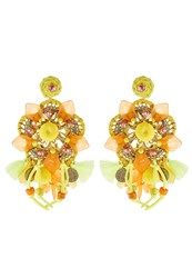 Sweet Deluxe Earrings Goldcoloured Yellow Orange Multicoloured