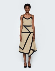 J.W.Anderson Contrast Cami Dress Taupe