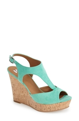 Bp 'Springs' Peep Toe Wedge Sandal Women Mint