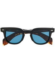 Jacques Marie Mage Round Frame Sunglasses Black