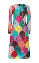 Dolce And Gabbana Multicolored Lace Dress