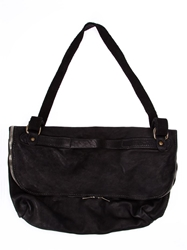 Guidi Flap Shoulder Bag Black