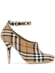 Burberry Blyth Ankle Strap Pumps Neutrals