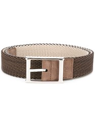 Canali Braided Belt Brown