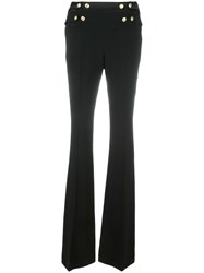 Balmain Pierre Buttoned High Waisted Trousers Black
