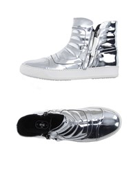 Bb Washed By Bruno Bordese Footwear High Tops And Trainers Women Silver