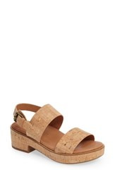 Gentle Souls Women's Talia Platform Sandal Natural Cork