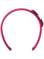 Salvatore Ferragamo 'Grosgrain' Headband Pink Purple