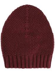 Fabiana Filippi Knit Beanie Red