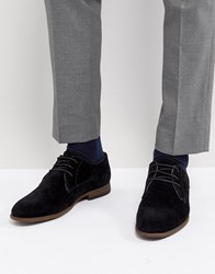 New Look Faux Suede Derby Shoes In Black