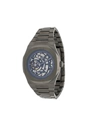 D1 Milano Skbj02 Skeleton Watch Silver