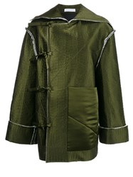 J.W.Anderson Off Centre Bow Fastening Jacket Green