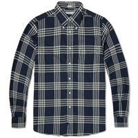 Individualized Shirts Grande Plaid Flannel Shirt Navy And White