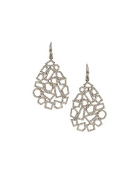 Bavna Geometric Diamond Pave Drop Earrings