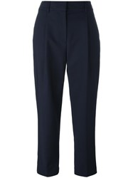 3.1 Phillip Lim Cropped Tapered Trousers Blue