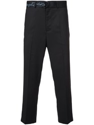 D.Gnak Printed Tape Belt Trousers Black