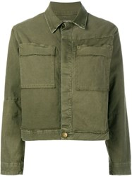 Current Elliott Patch Pocket Jacket Green