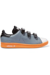 Adidas Originals Raf Simons Stan Smith Comfort Perforated Leather Sneakers Gray