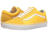 Vans Old Skool Suede Canvas Spectra Yellow True White Skate Shoes