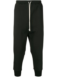 Alchemy Drop Crotch Tapered Trousers Black