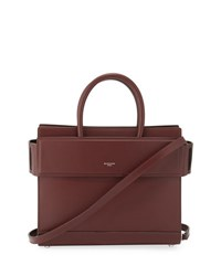 Givenchy Horizon Small Smooth Leather Satchel Bag Maroon