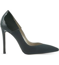 Karen Millen Suede And Patent Leather Courts Dark Green