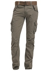 Schott Nyc Cargo Trousers Olive Green