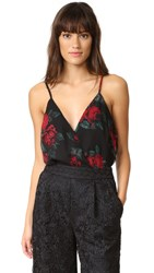 Lovers Friends Vision Cami Bodysuit Rose Print