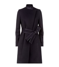 Reiss Lucille Belted Coat Female Black
